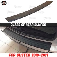 guard of rear bumper for renault dacia duster 2010 2017 abs plastic accessories protective plate scratches car styling tuning