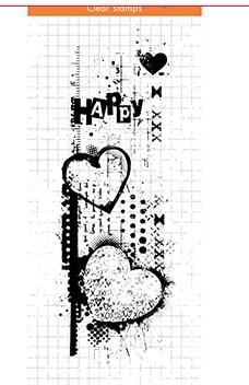 Sello transparente fondo de amor DIY álbum de recortes Tarjeta de papel artesanía silicona rodillo transparente sellos 788