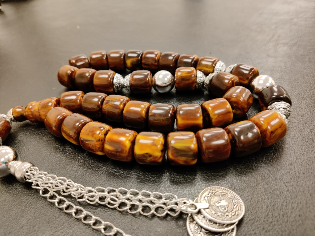 İslam Ottoman Kahraman Faturan German Cherry Amber Sandalous Misbaha Rosary Free Shipping Tasbih Tesbih İslamic Arabic Gift #42