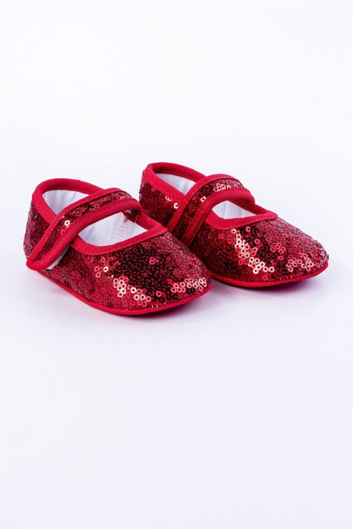 Flaneur Baby Girl Red Sequined Booties Shoes 2021 Premium Quality