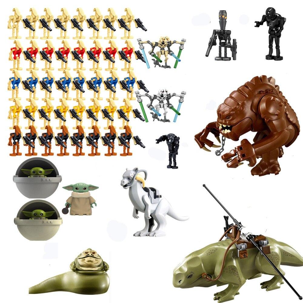 Figuras de acción de bloques de Star Wars, figuras del General Lightsaber Grievous, clon Battling Droid BabeYoda, bloques de construcción, Juguetes