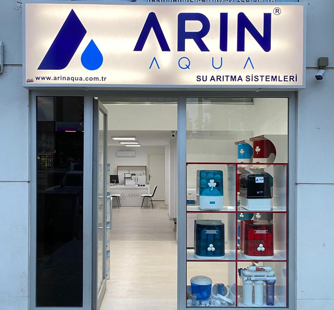 Arın Aqua Water Cleaner For Home and Offıce Don't pay for water to drink anymore WATER TREATMENT SYSTEM READY TO DRINK.