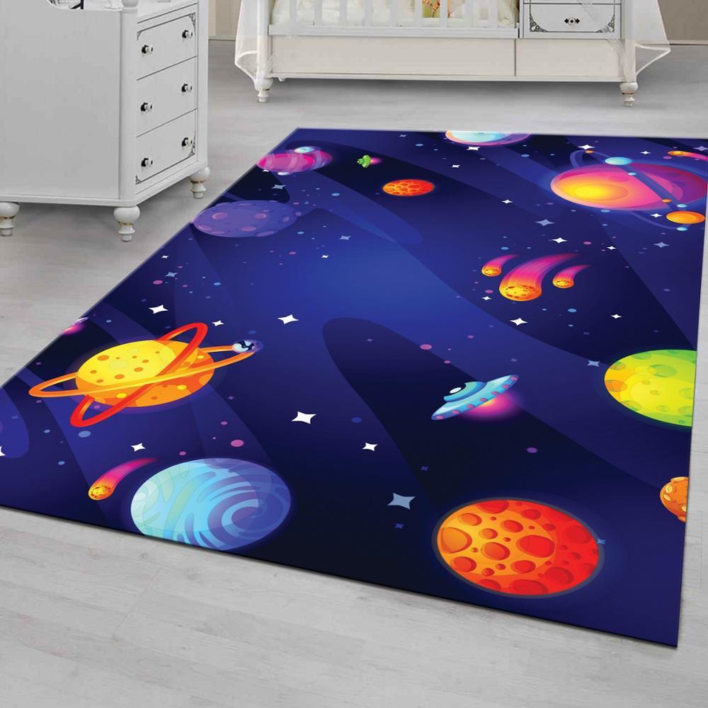 Space 5-سجادة أرضية غير قابلة للانزلاق ، سجادة للمراهقين