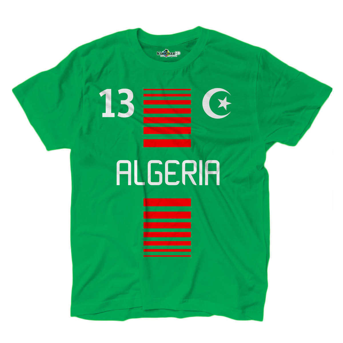 Camiseta deportiva nacional hombre Argelia 13 Deportes Fútbol África Media luna 1 S