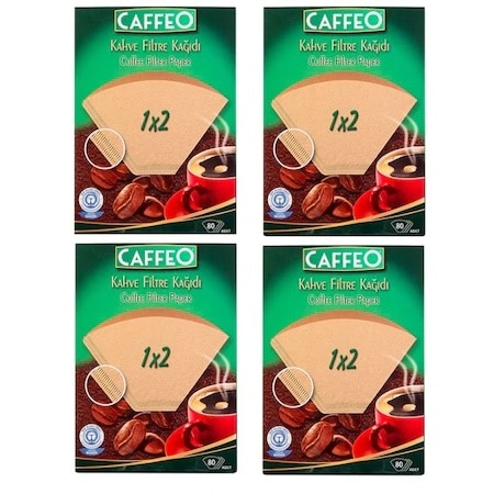 320 Pieces 1 x 2 Coffee Filter Paper 4 80 Pieces,Caffeo