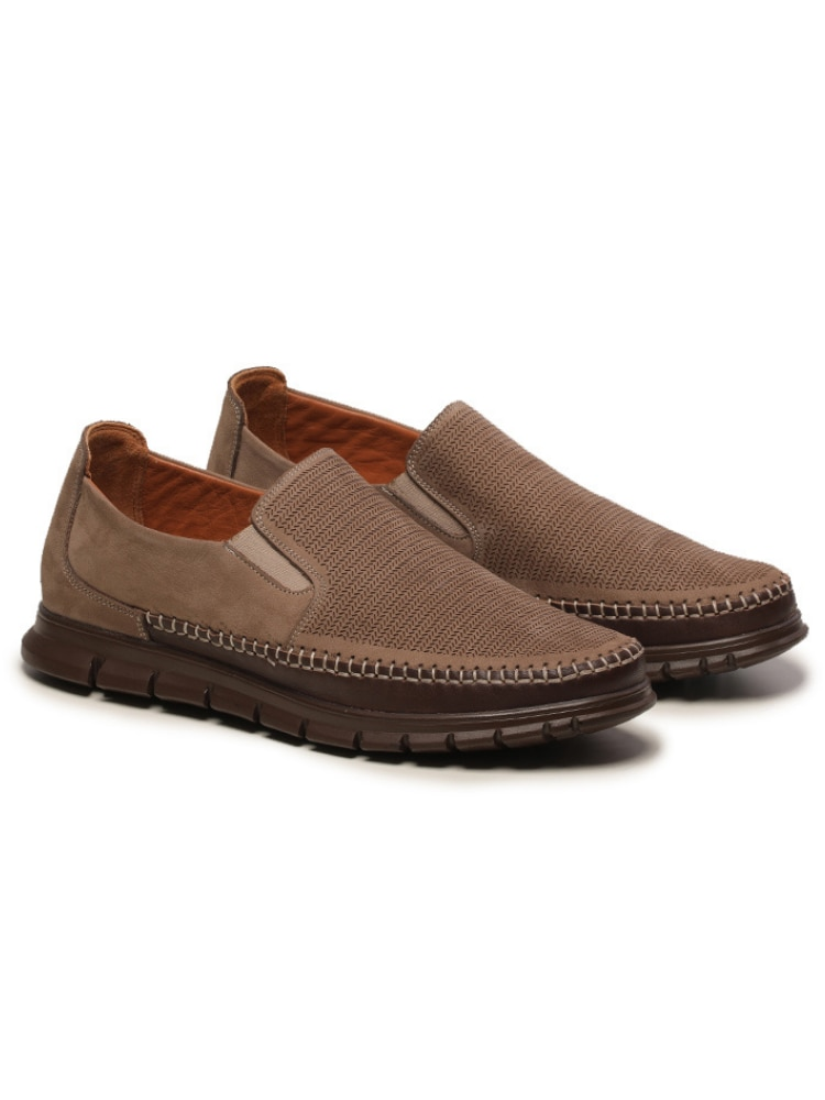 Luxury Genuine Leather Men 'S Shoe Summer Clothes Suitable For Extra Comfortable Sand Color Load Lig
