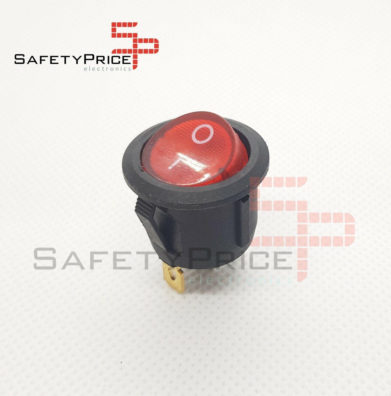 No interruptor fora com rede clara 20mm spst 220v sp 6a