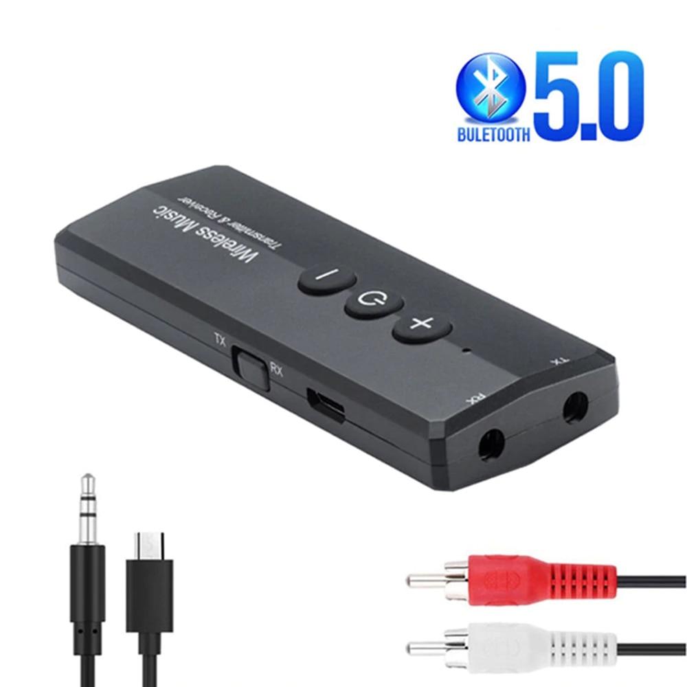 Bluetooth 5.0 Transmitter Portable Wireless Audio Adapter Aux 3.5mm 1 to 2 Music Sound TV music splitter