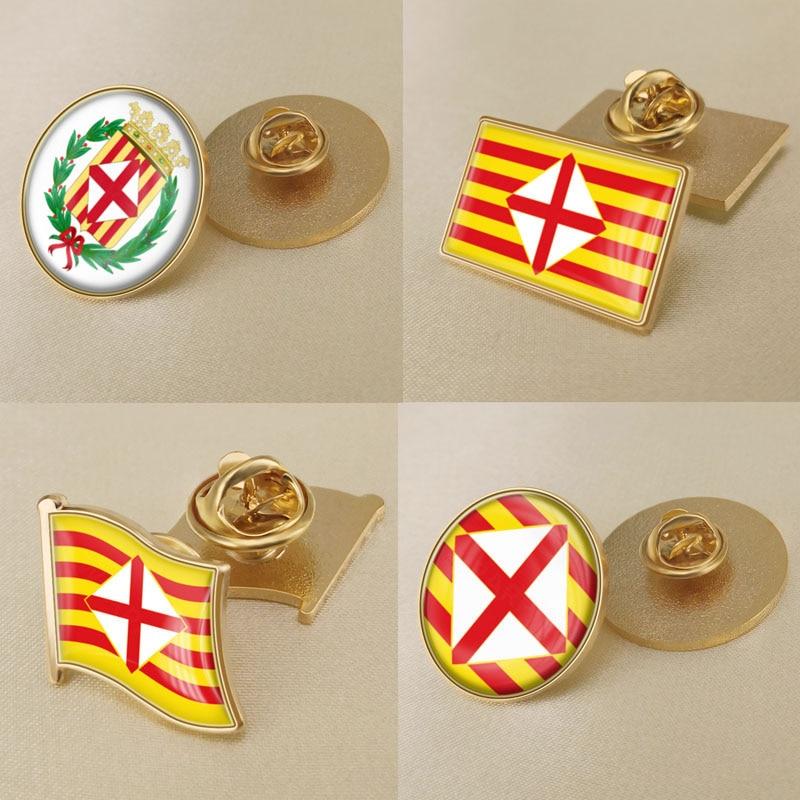 Escudo de Armas de la provincia de Barcelona de España Pins de...
