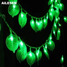 AiLESEN LED String Light Garland Fairy Lights Rose Leaf Lights for Christams Wedding Room Garden Decoration Battery Powered