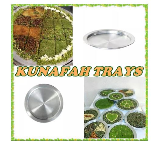 35 سنتيمتر/صنع في تركيا أفضل نوعية Kunafa Konafa Knafeh Kunafah Kunefe صينية ألومنيوم لوحة عموم شحن عالمي