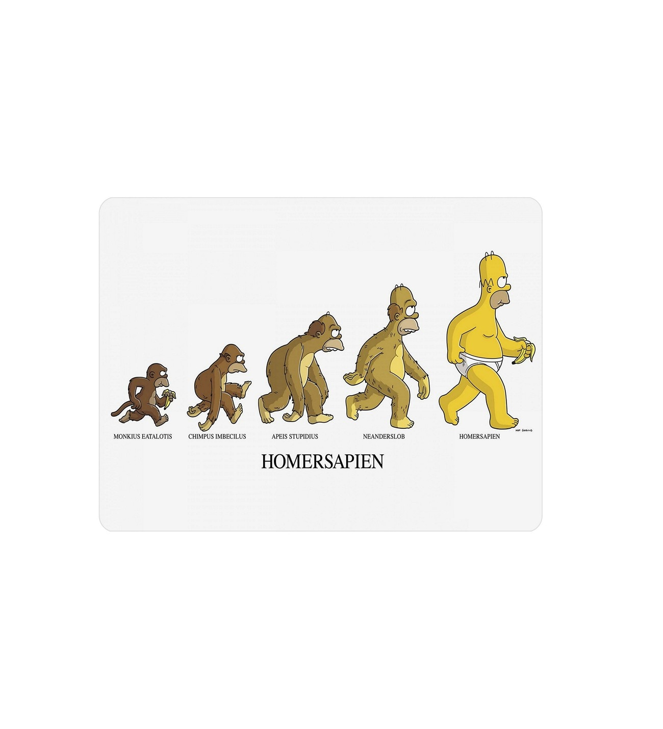 Alfombrilla de ratón Rectangular antideslizante WuW Simpsons
