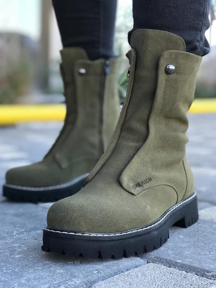 Chekich CH027 Sü St  Khaki Men Boot