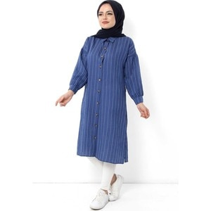 Hijab World Button Hijab Tunik TSD1112 Indigo