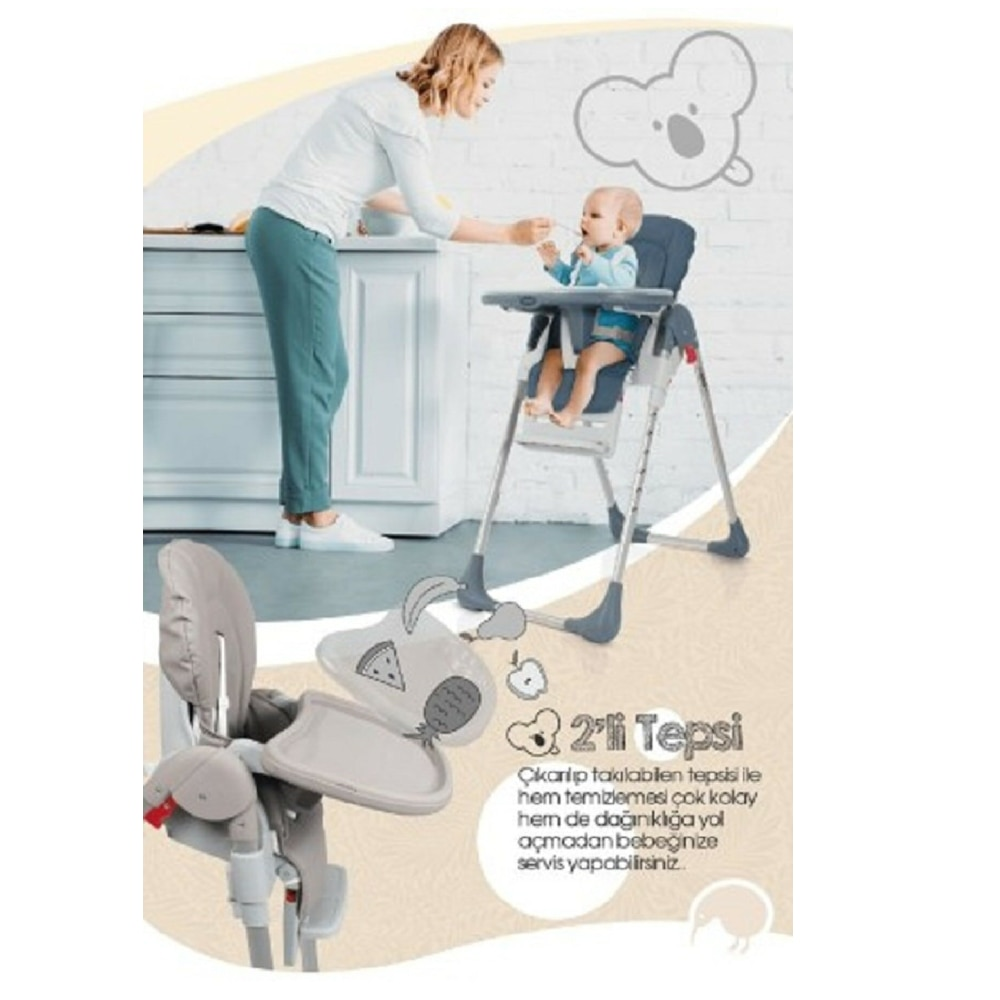 Baby Feeding Chair Wheeled Movable Portable Adjustable Dining Children Dining Table Chair For Babies enlarge