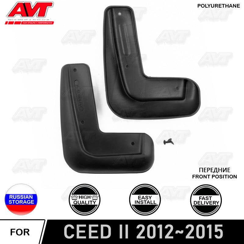 Guardabarros delantero para Kia Ceed II 2012 ~ 2015 2 unids/set protección guardabarros salpicaduras auto accesorios de protección de la suciedad del coche estilo de coche