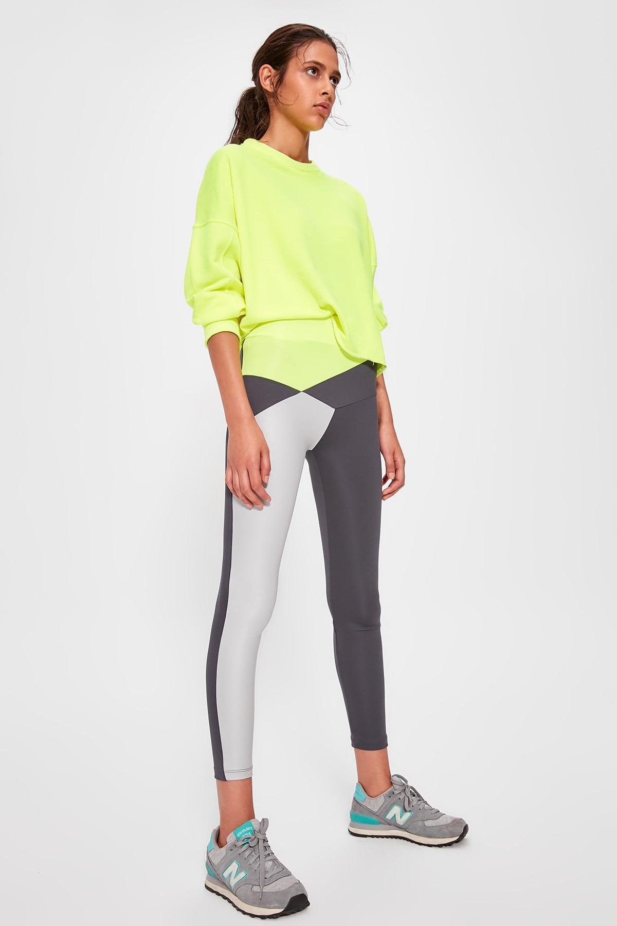 Trendyol With Color Block Sports Leggings TWOAW20TA0039