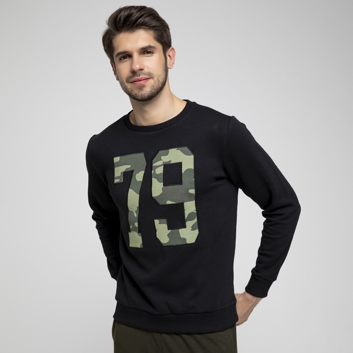 FLO THOR 2 SWEAT Black Men S Sweatshirt LUMBERJACK