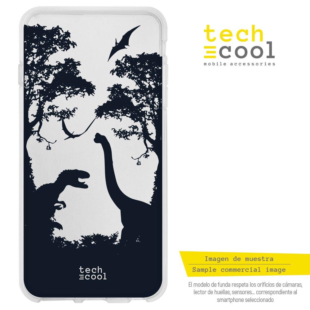 FunnyTech® Funda Silicona para Huawei P9 Lite pelicula Jurassic world dinosaurios transparente