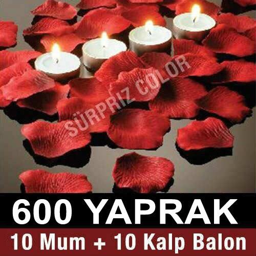 Rosa follaje 600 Uds rosa roja de TEALİGHT vela HEDİYELİ 233416415