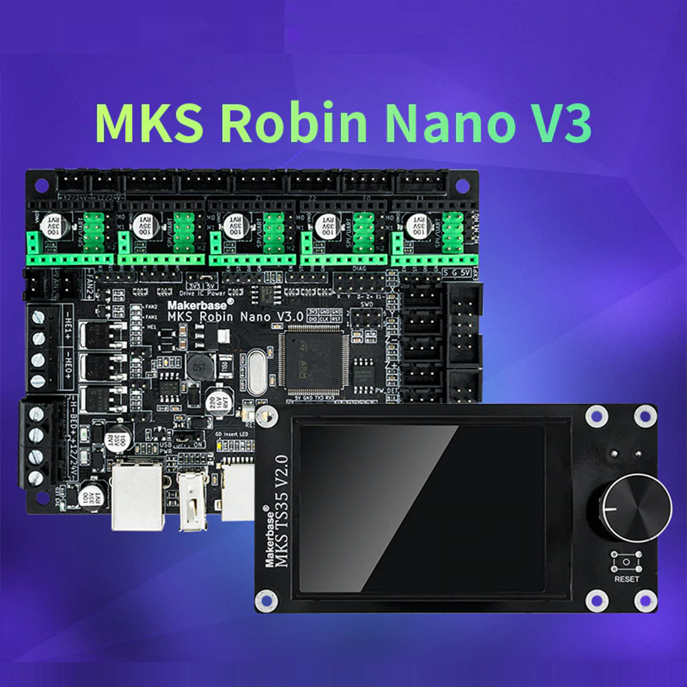 Twotrees makerbase mks robin nano v3 32bit 168mhz f407 peças de impressora 3d tela tft impressão usb vs nano v2