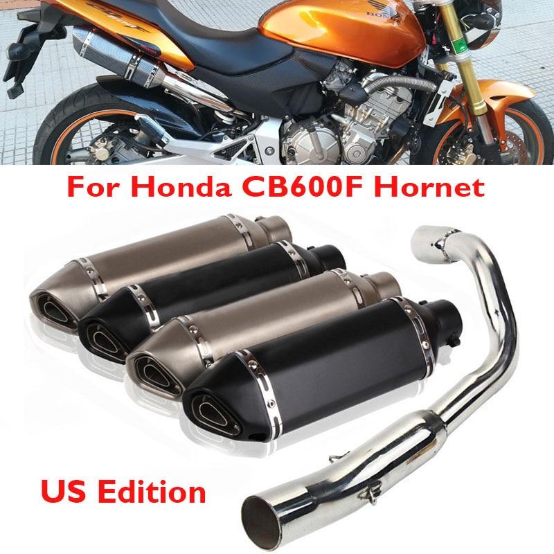 CB600F Hornet Motorcycle Exhaust Tip Silencer Muffler Middle Connect Tube Pipe Slip on Exhaust System for Honda CB600F Hornet hornet