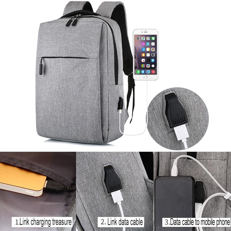 Rucsac pentru laptop cu USB, rucsac antifurt cu rucsac școlar, - Rucsacuri - Fotografie 3