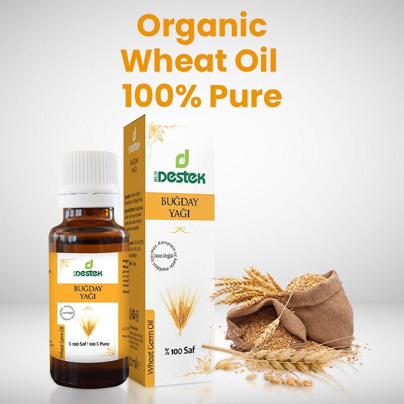 Пшеничное масло 100%, чистые Органические растительные масла 20 мл с турецкими семенами, эфирные масла, натуральные масла для ароматерапии, на...