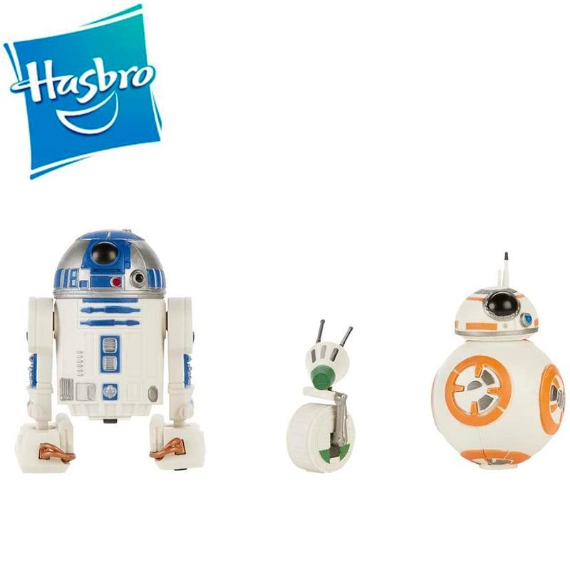 Hasbro Star Wars Pack Droides Star Wars,3 figuras de 13 cm R2-D2, BB-8 y D-O Figuras de acción Juguetes de colección E3118EU4
