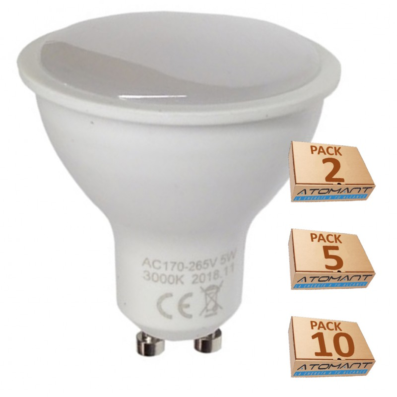 (LA) GU10 LED 5W, 120 grados de apertura. Halogeno LED 550 lumenes- Recambio bombillas 50W