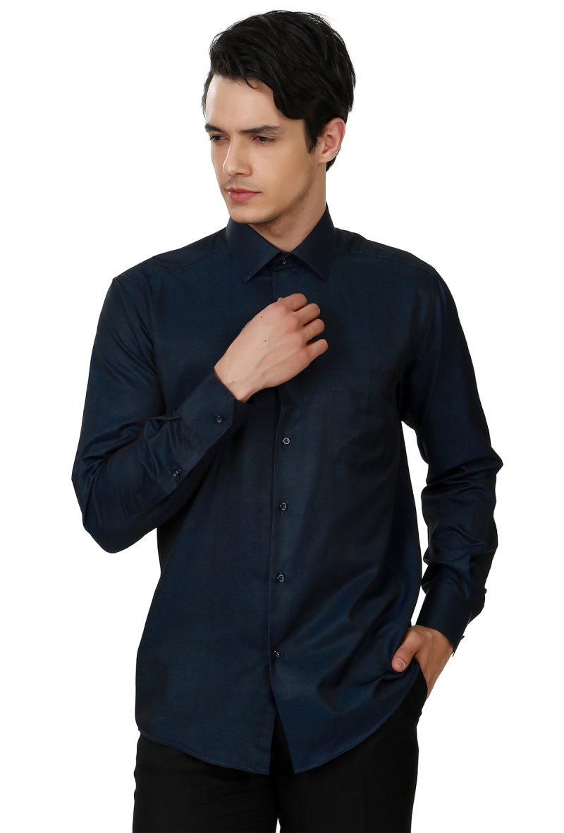 Рубашка Varetta мужская с длинным рукавом, хлопок, прямая Повседневная сорочка из ткани Оксфорд, Офисная деловая, Сделано в Турции