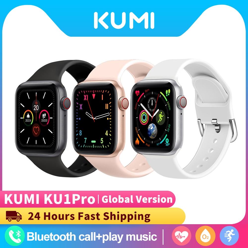 KUMI KU1 برو بلوتوث ساعة ذكية الرياضة معدل ضربات القلب النوم رصد بلوتوث الدعوة ل iOS أندرويد