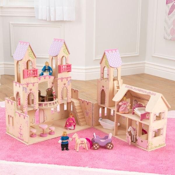 Maisons de poupée KidKraft château princesse mini poupées pour enfants jouets pour enfants jeu meubles poupées maisons de poupée meubles pour lit pour accessoires