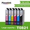 Plavetink T0821 6 renk uyumlu mürekkep kartuşu için Epson Stylus fotoğraf T50 R290 R295 R390 RX590 RX610 RX615 RX690 1410 TX650
