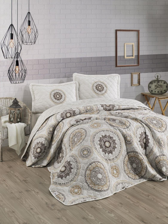 Комплект постельного белья из 100% турецкого хлопка, покрывало и наволочка, стеганое, роскошное, двухместное, одноразмерное