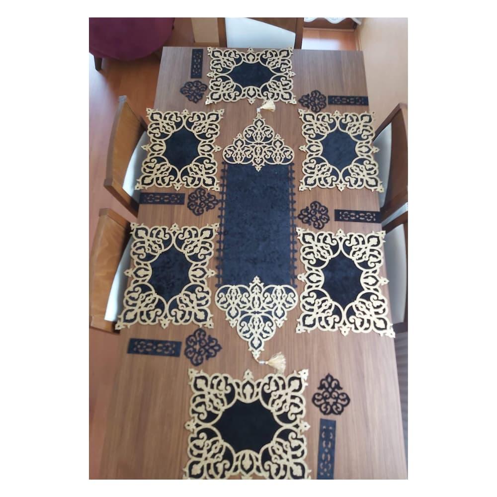 طاولة عشاء مربعة من السلاطين لامعة باللون الذهبي والفضي المخملي (مجموعة من 6 إلى 8 إلى 12 شخصًا) طاولة لتزيين حفلات الزفاف