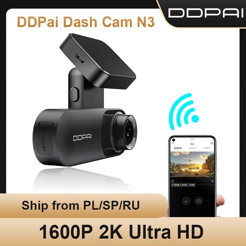 DDPAI داش كام مولا N3 1600P HD نظام تحديد المواقع سيارة محرك السيارات فيديو DVR أندرويد واي فاي الذكية 2K مسجّل بيانات كاميرا السيارة 24H وقوف السيارات