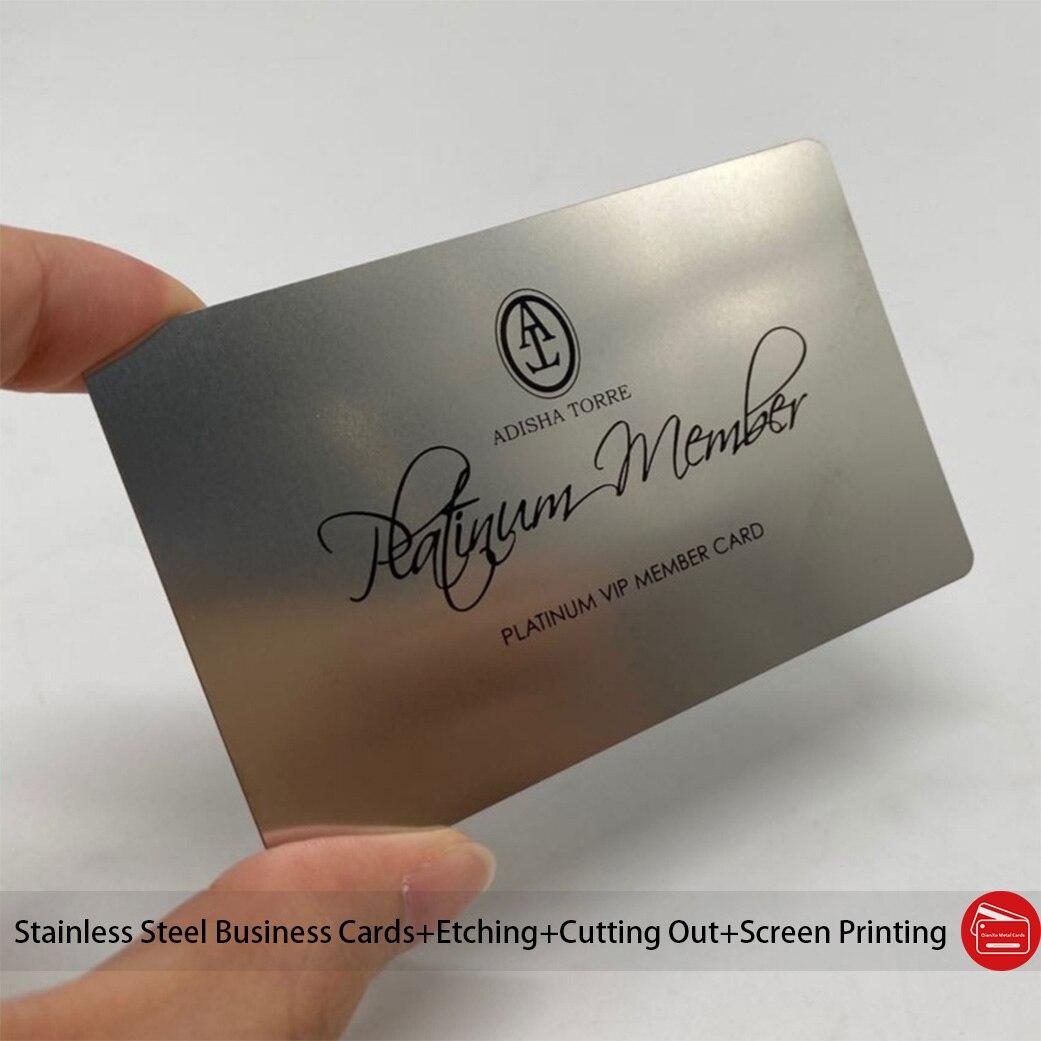Китайские поставщики, металлические визитные карточки разного дизайна по низкой цене