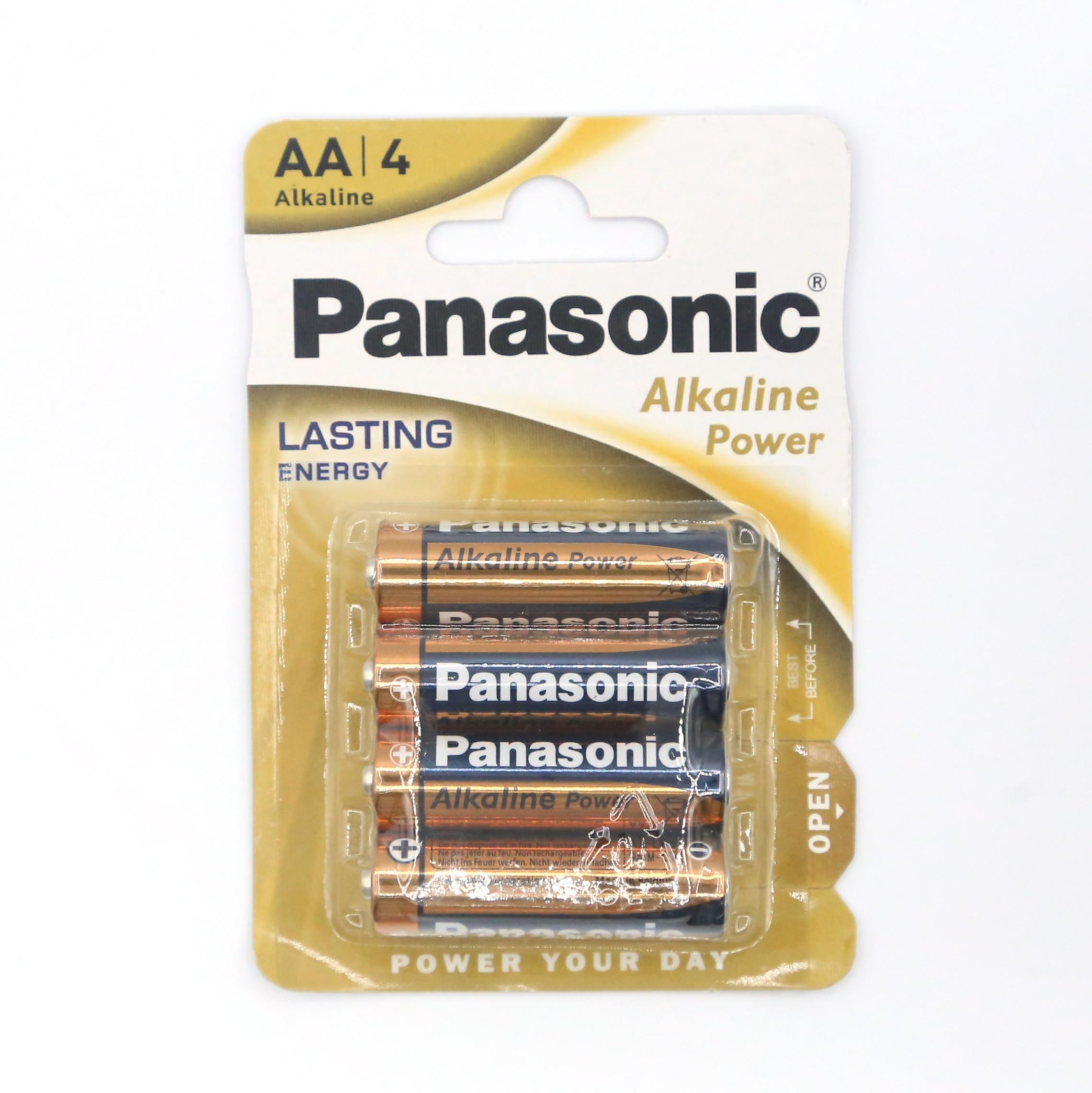4uds Panasonic alkaline batterie AA 1,5 V LR06 batterie