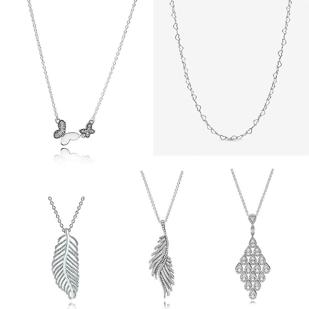 100% hohe qualität Echte BRILLANTE BOGEN Kette Schimmernde Phoenix Feder CASCADING GLAMOUR HALSKETTE Damen Halskette