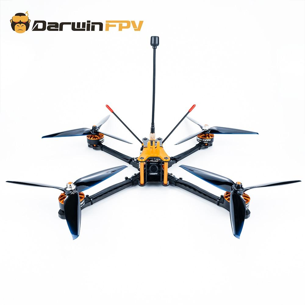 DarwinFPV المبتدئ 129 S طائرة بدون طيار FPV Quadcopters Darwin129 280 مللي متر 7 بوصة F4 OSD 50A BLHeli_S Dshot600 800mW 1200TVL