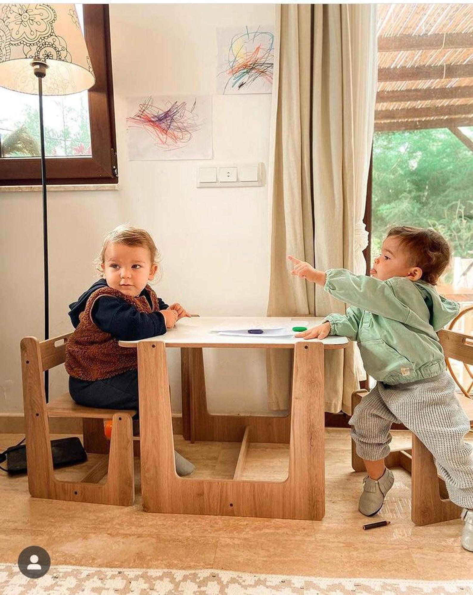 От 2 до 4 лет Монтессори стол, детский стол и стул набор, играть, обучение, детский стол, детская мебель, стул для младенцев детский стол и стул ...