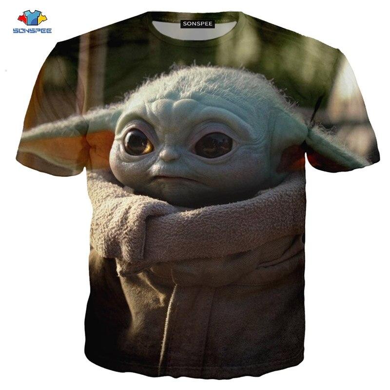 SONSPEE/Летняя мужская футболка с короткими рукавами, Популярная ТВ-серия, футболка «мандалор», научно-фантастическая футболка с изображением динозавра, футболка с изображением животного