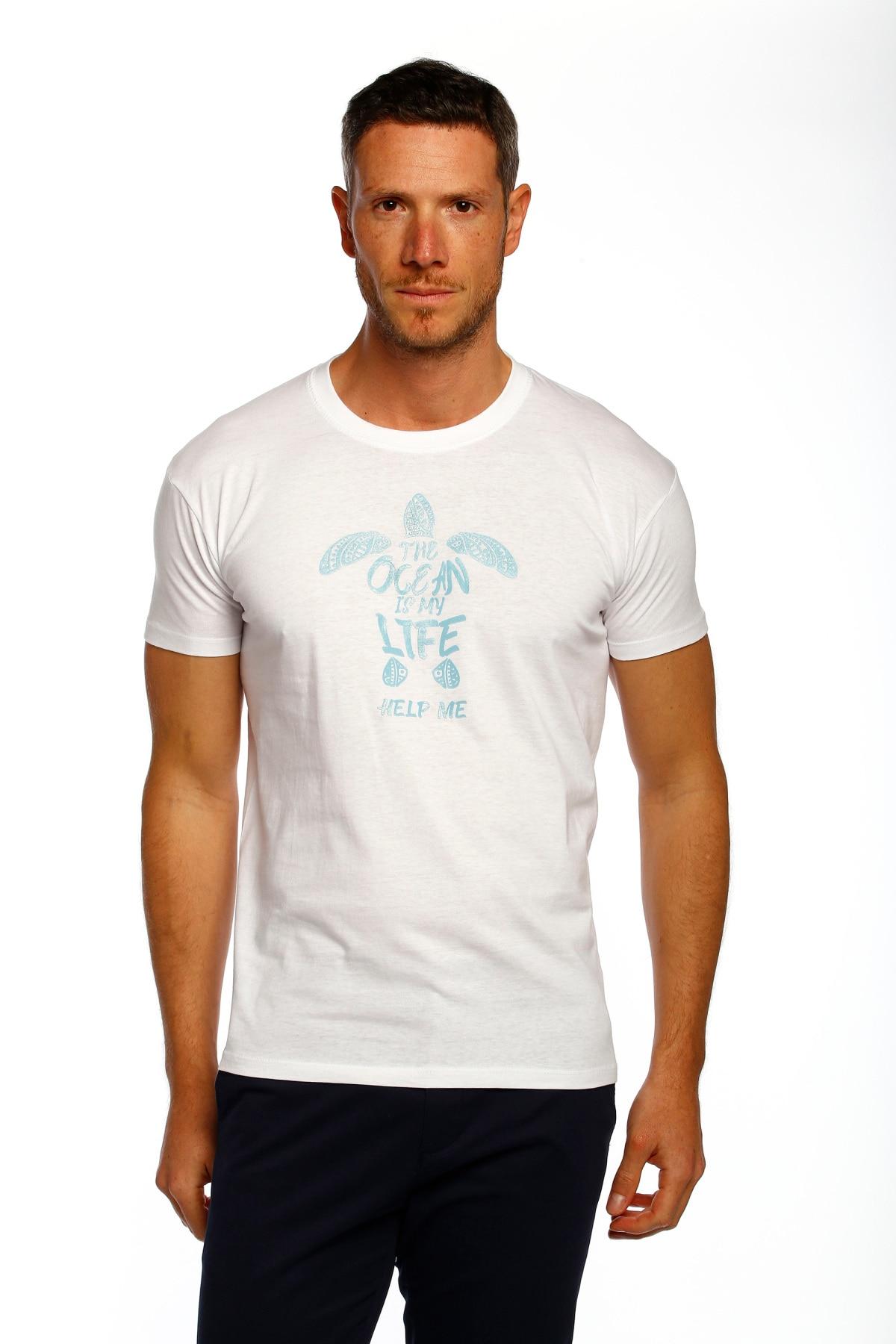 T-shirt homme tortue le temps de Bocha KV1CTORTU