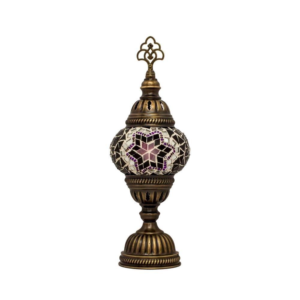مصباح سطح الطاولة الزجاجي المصنوع يدويًا من الفسيفساء ، أصلي ، صناعة يدوية تركية ، مصباح مكتبي رومانسي ، مصباح مصنوع يدويًا على طراز الأنوال