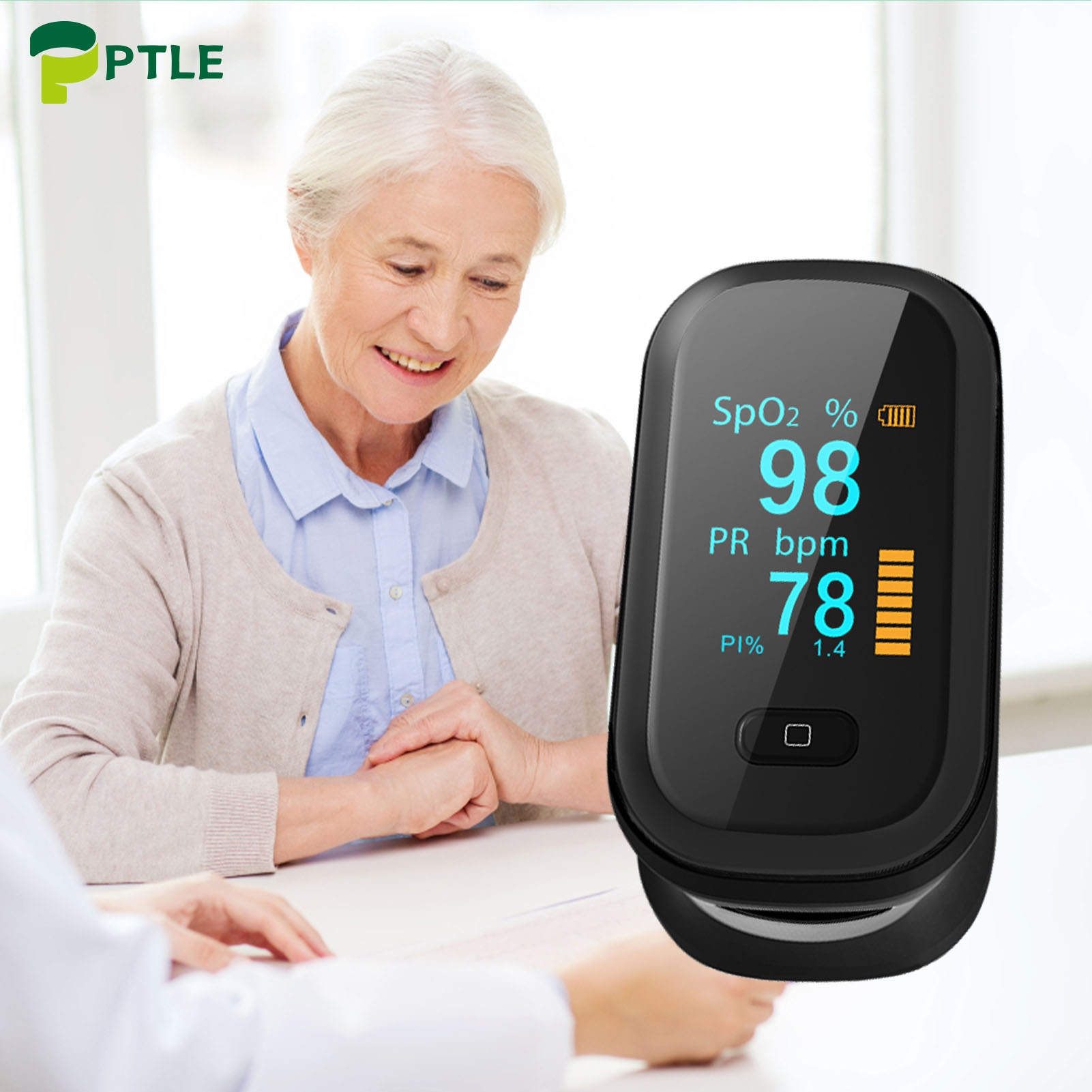OLED Spo2 Fingertip Oximeter Portable Finger Pulse Oximeter Heart Blood Oxygen Rate Saturation Monitor Household Health Monitors