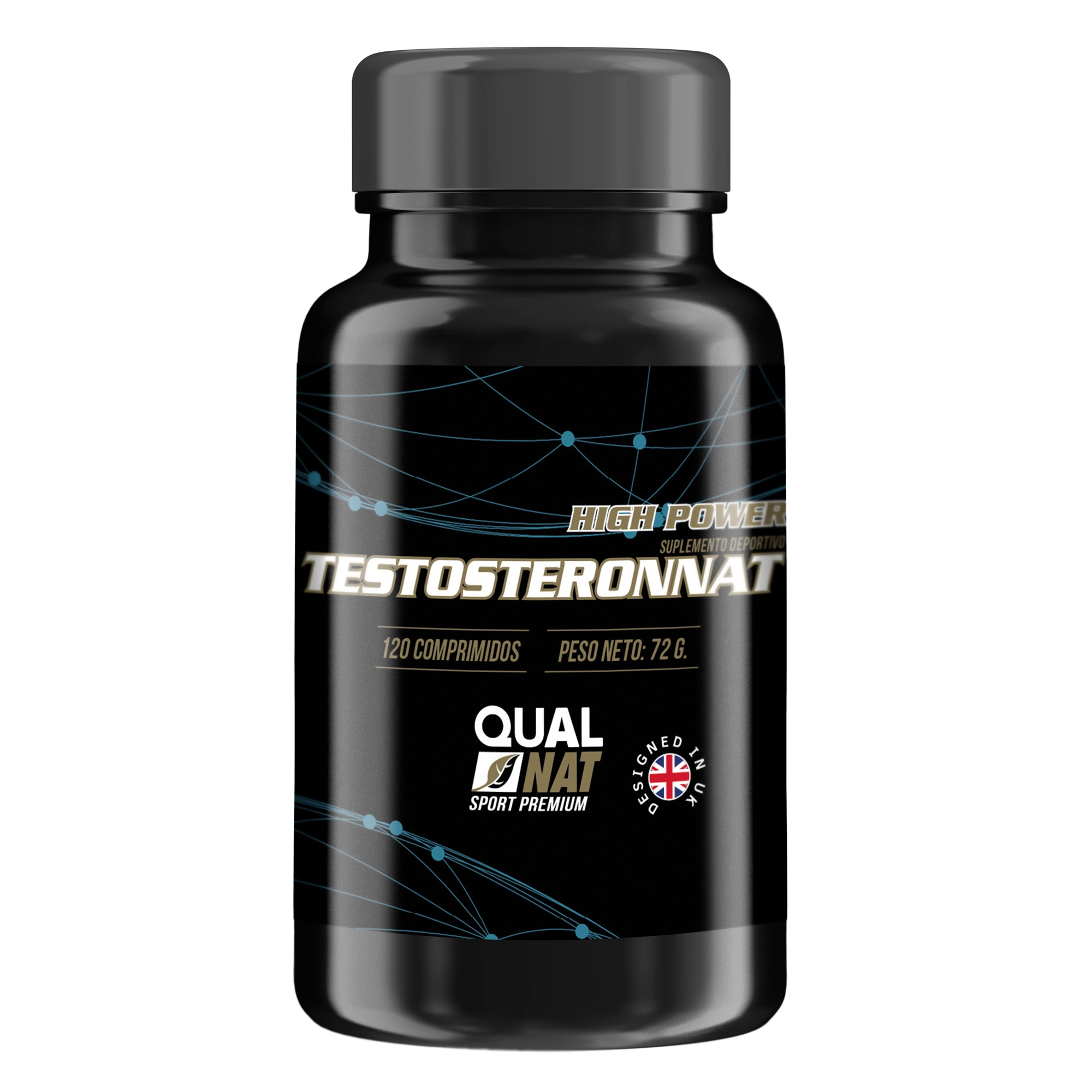 Esportes do suplemento da testosterona   aumenta a massa   120 comprimidos qualnat
