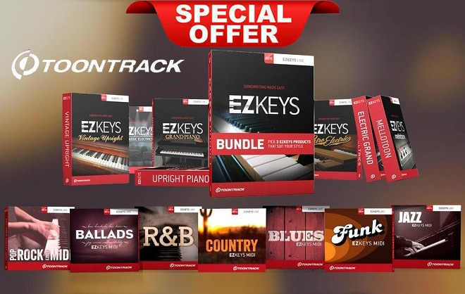 Toontrack Ezkeys Comptete V1.2.5 VSTi-AAX Full Libraries & MIDI's Included