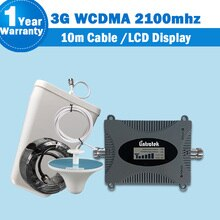 Lintratek 3g wcdma 2100 b1 amplificateur de signal de téléphone portable amplificateur cellulaire 3g répétidor umts hspa kit complet répéteur 10m câble S44