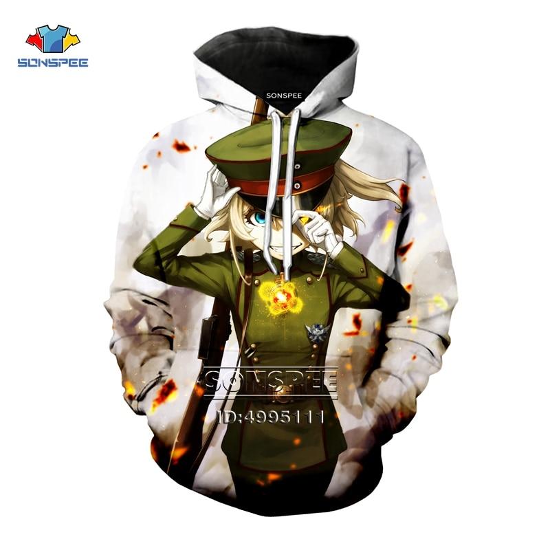 Saga of Tanya the Evil Yojo Senki 3D Print Men Women Hooded Hoodies Man Sweatshirts Pullovers Casual Tops Oversized Clothes